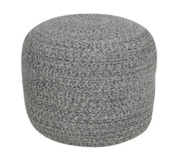 Ottoman – Grey Braided