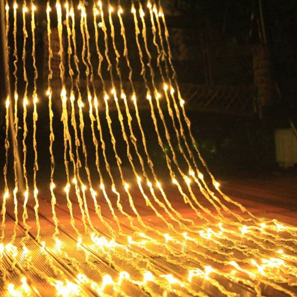 3 by 3M 320LED Waterfall LED Window Curtain Lights String Fairy Light