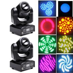 30W RGBW Moving Head Stage Light DMX512 Gobo Club Disco DJ Party Lighting