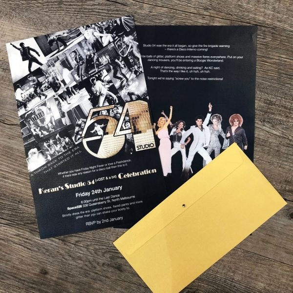 Party Invite Studio 54